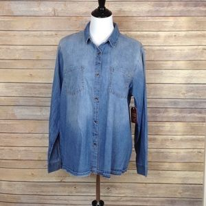 Faded Glory large chambray button down shirt